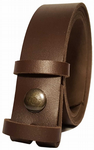 30mm Chocolate Snap Fit Leather Belt